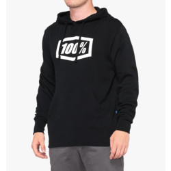 100% Essential Hooded Pullover Sweatshirt Black
