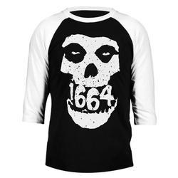 1664 BMX 3/4 Sleeve Skull T-Shirt