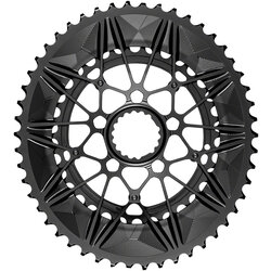 absoluteBLACK SpideRing Oval Direct Mount 2x Chainring Set for Cannondale