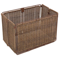 Axiom Folding Rear Faux Wicker Basket