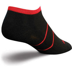 SockGuy Channel Air No-Show Socks (Black/Red)