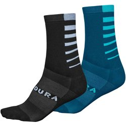 Endura Coolmax Stripe Socks (Twin Pack)
