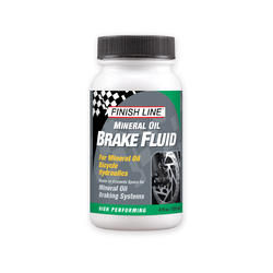 Finish Line Mineral Oil Brake Fluid (4-Ounce Bottle)