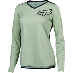 Fox Racing Women's Indicator Long Sleeve Asym Jersey - Sage