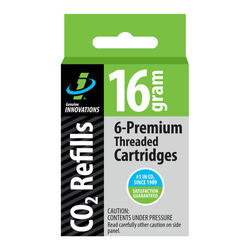 Genuine Innovations 16-Gram Threaded CO2 Cartridges (6-pack)