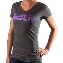 Giant Liv/Giant Stripe Logo V-Neck T-Shirt - Women's