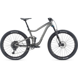 2019 Giant silver full suspension mountain bike