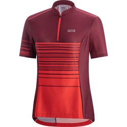Gore Wear C3 Women Striped Zip Jersey