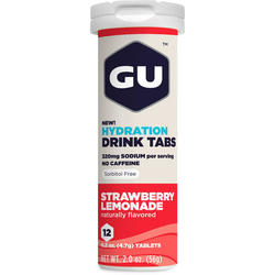 GU Hydration Drink Tabs - Strawberry Lemonade (12 Tablets)