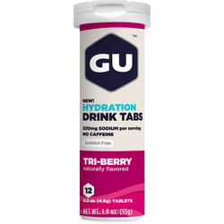 GU Hydration Drink Tabs - Tri Berry (12 Tablets)