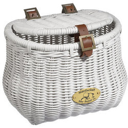 Nantucket Bike Basket Co. Cruiser Madaket Creel Basket w/Lid