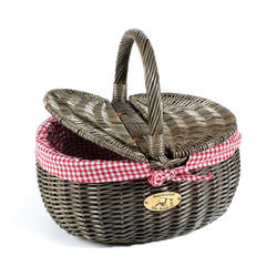Nantucket Bike Basket Co. Steps Beach Picnic Basket