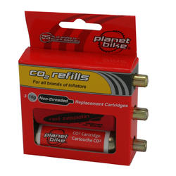 Planet Bike 16-Gram CO2 Cartridge 3-Pack (Unthreaded)