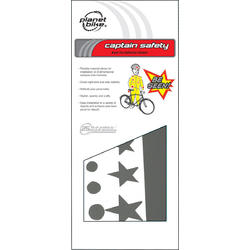 Planet Bike Captain Safety Super Fun Reflective Stickers