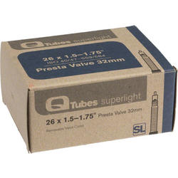 Q-Tubes Superlight Tube (26 x 1.5-1.75 inch, Presta Valve)