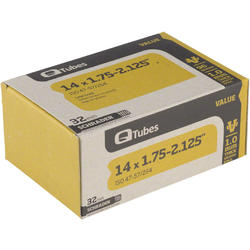 Q-Tubes Value Series Tube (14-inch x 1.75-2.125 Schrader Valve)