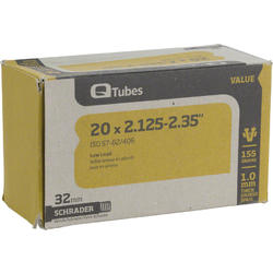 Q-Tubes Values Series Tube (20-inch x 2.125-2.35 Schrader Valve)