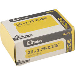 Q-Tubes Value Series Tube (26-inch x 1.75-2.125 Schrader Valve)
