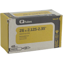 Q-Tubes Values Series Tube (26-inch x 2.125-2.35 Presta Valve)