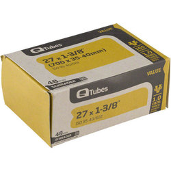 Q-Tubes Value Series Tube (27-inch x 1-3/8 (700C x 35-40) Schrader Valve)