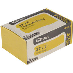 Q-Tubes Values Series Tube (27-inch x 1.00 (700C x 18-25) Schrader Valve)