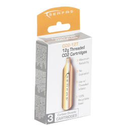 Serfas 12-Gram CO2 Threaded Cartridges