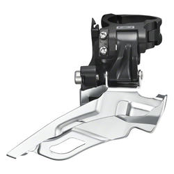 Shimano Deore 10-Speed Dual-Pull Triple Front Derailleur (Down Swing, Multi-Clamp)