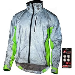 Showers Pass Men's Hi-Vis Torch E-Bike Jacket with Beacon Lights