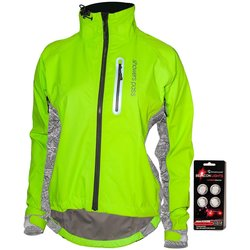 Showers Pass Women's Hi-Vis Elite E-Bike Jacket with Beacon Lights