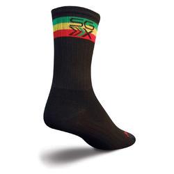 SockGuy SGX 6-inch Socks (Rasta)