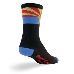 SockGuy SGX 6-inch Socks (Arizona Flag)