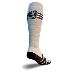 SockGuy Knee Hi Wool Socks (Black Lion)