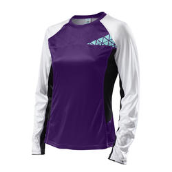 Specialized Andorra Comp Long Sleeve Jersey - Women's - Purple/Light Teal