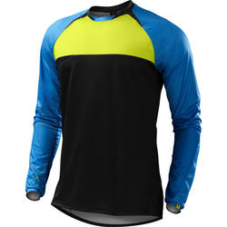Specialized Demo Pro Long Sleeve Jersey - Neon Blue/Hyper Green