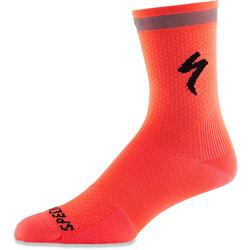 Volta Neon Tall High Cycling Socks Fluoro ORANGE Sizes Small Medium /& Large
