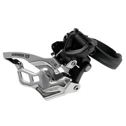 SRAM X5 2x10 Front Derailleur (High-clamp, Bottom-pull)