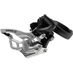 SRAM X5 2x10 Front Derailleur (High-clamp, Dual-pull)