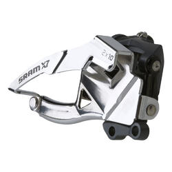 SRAM X7 2x10 Front Derailleur (Mid Direct-mount, Dual-pull) 38/36T
