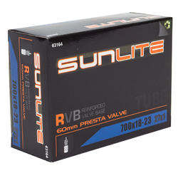 Sunlite Standard Presta Valve (60mm) Tube 700 x 18-23 (27 x 1)