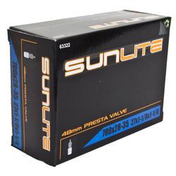 Sunlite Standard Presta Valve (48mm) Tube 700 x 28-35 (27 x 1 1/8 - 1/4)