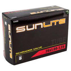 Sunlite Standard Schrader Valve Tube 26 x 1-1.25