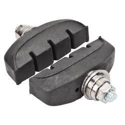 1 Pair Brake Blocks with Aluminium Alloy Shell and Rubber Pad Insert for Mountain Bike Dilwe V-Brake Pad