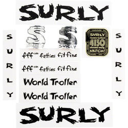 Surly World Troller Frame Decal Set