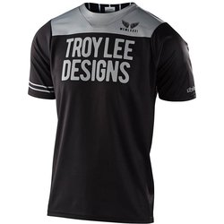 Troy Lee Designs Youth Skyline Short Sleeve Jersey Pinstripe Block