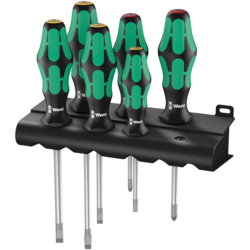 Wera 334/6 Rack Screwdriver Set