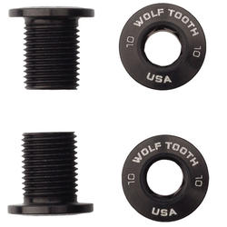 Wolf Tooth Components Set of 4 Chainring Bolts for M8 Threaded Chainrings (10mm Long)