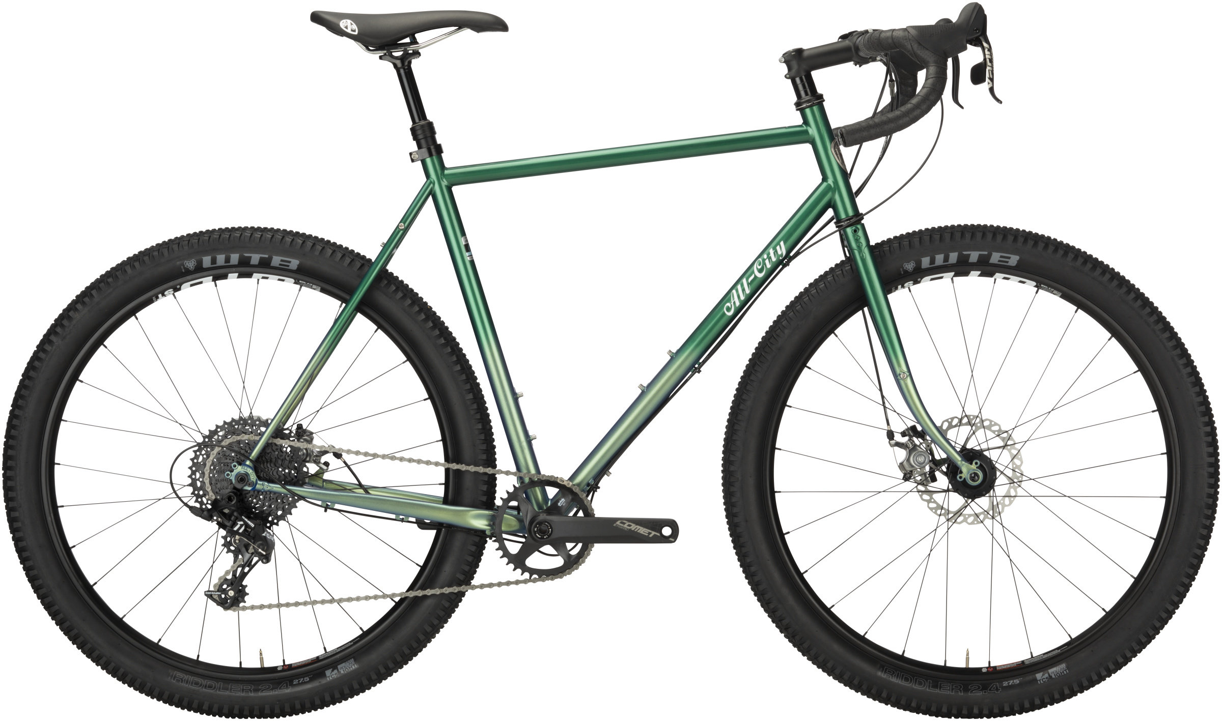 green all-city gorilla monsoon drop bar bikepacking bike