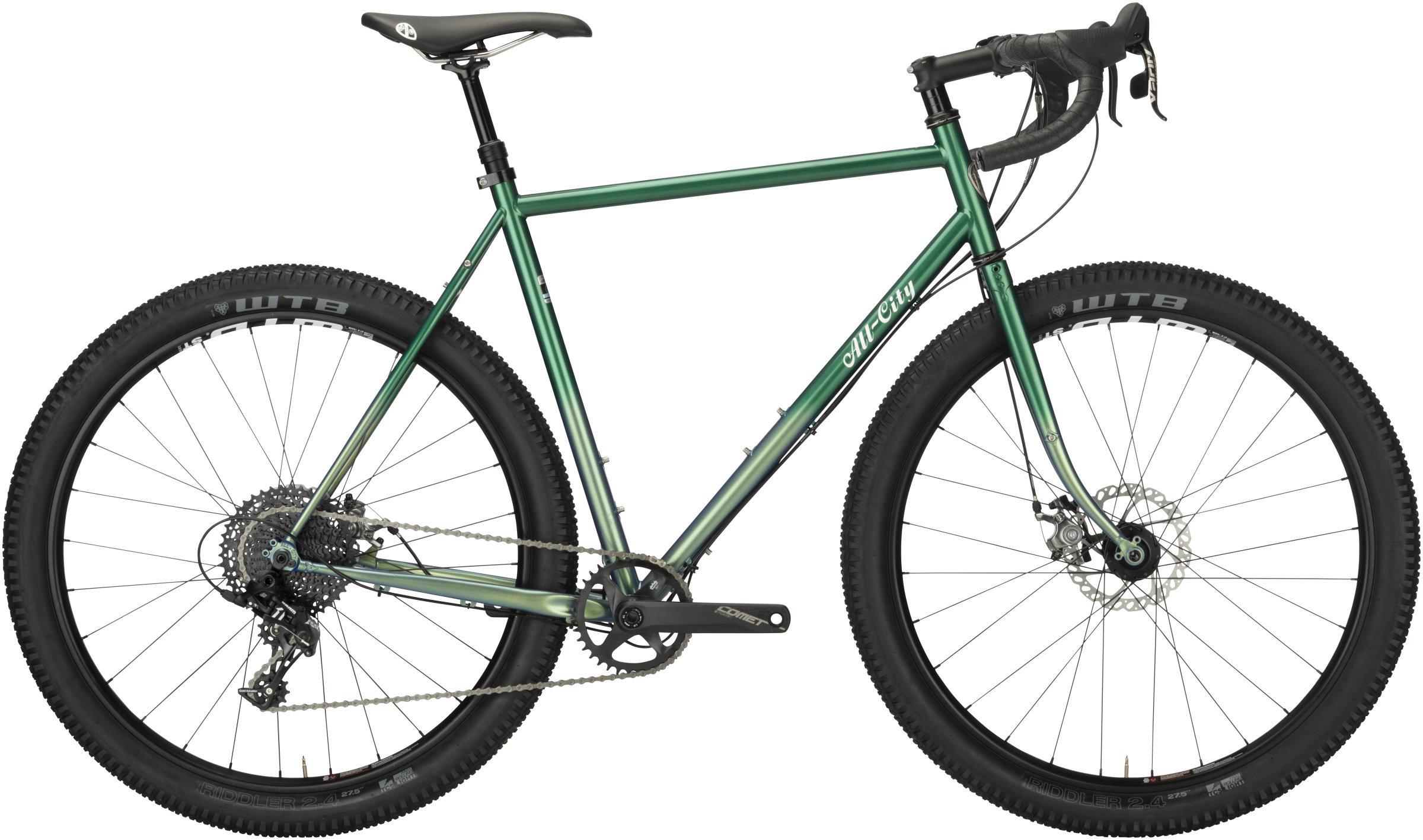 green all-city gorilla monsoon drop bar bikepacking bike