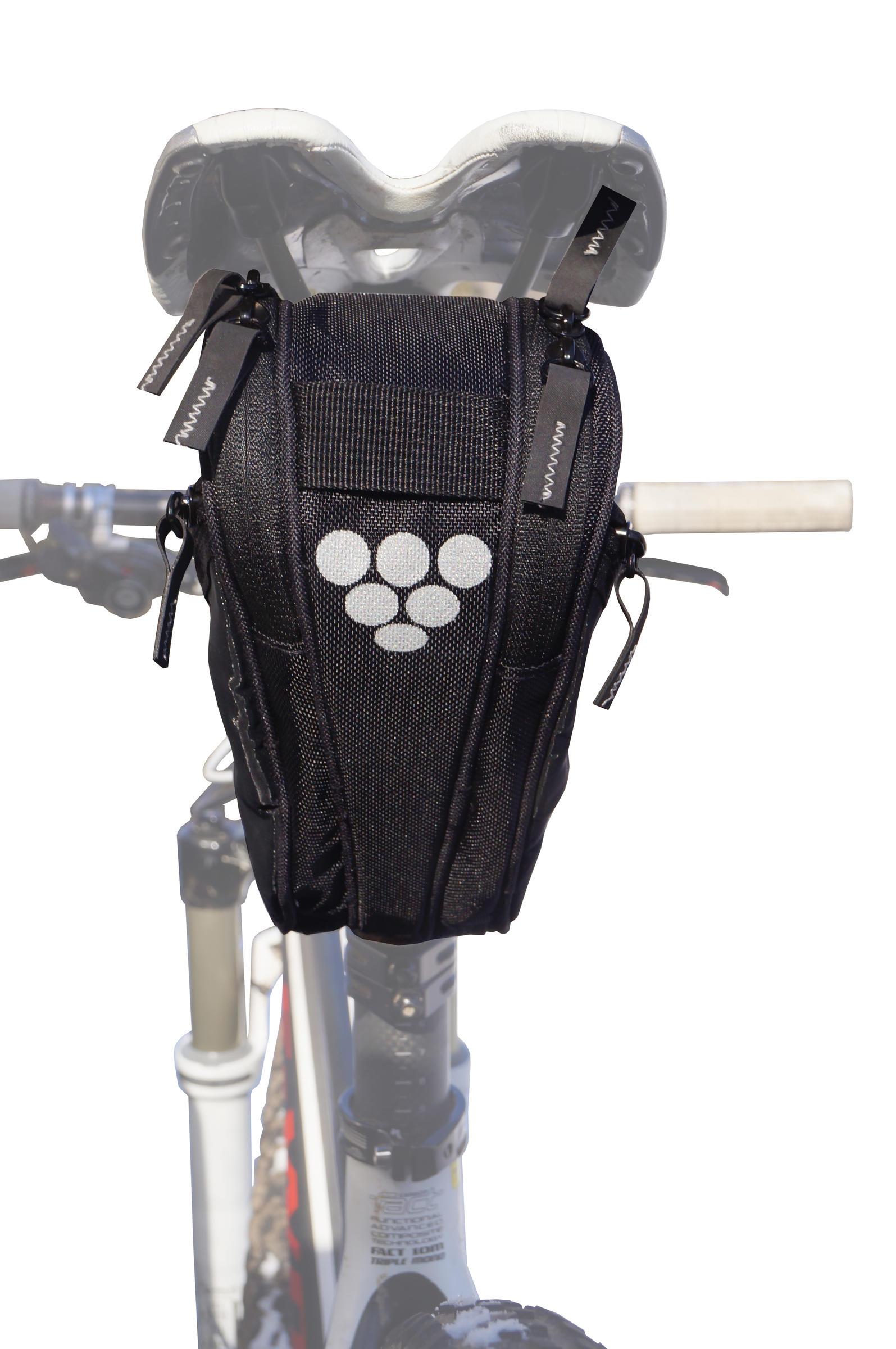 Bikase 1032 Wing Seat Pack Seat Bag Black