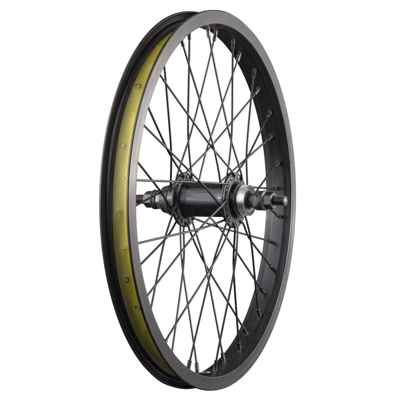 "20 Inch BMX Bike Rear Wheel 9T Driver 3//8/"" Axle Bicycle 20/""  Wheel Black"
